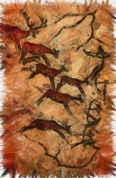 Inspire Your Dog Cave Painting